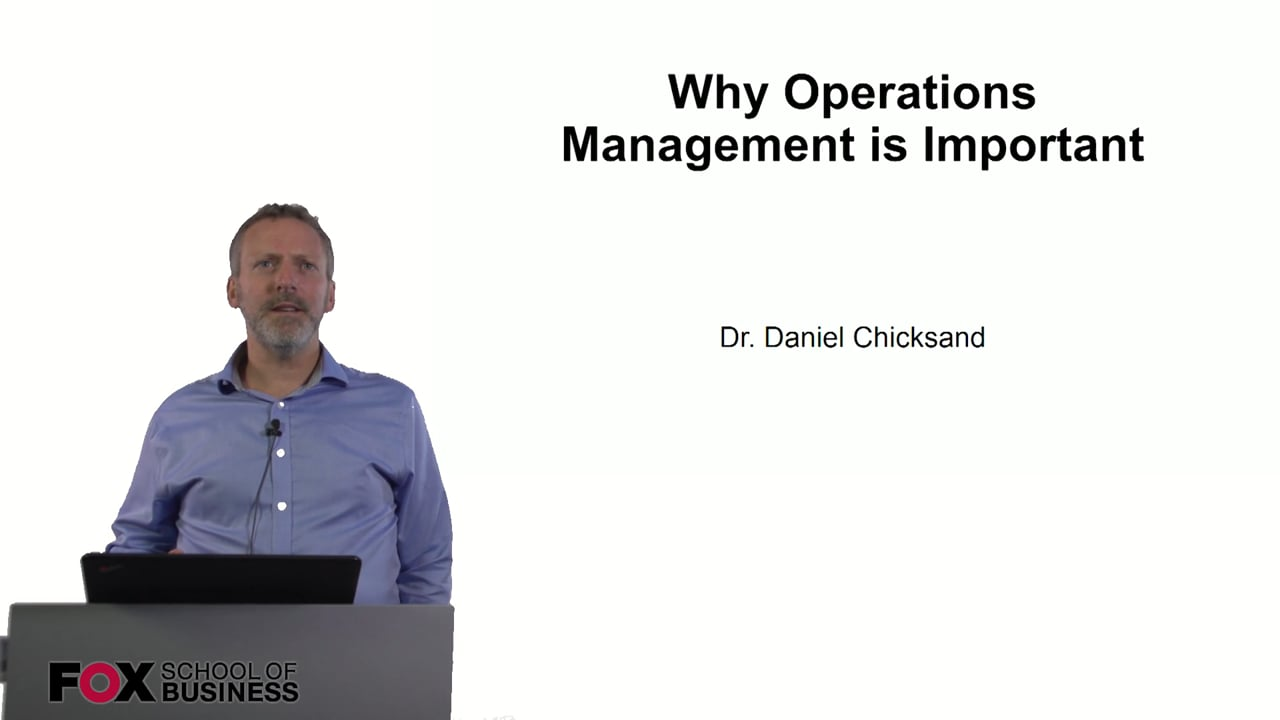 60871Why Operations Management is Important
