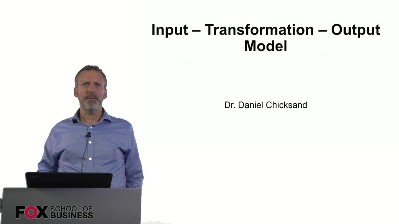 60870Input – Transformation – Output Model