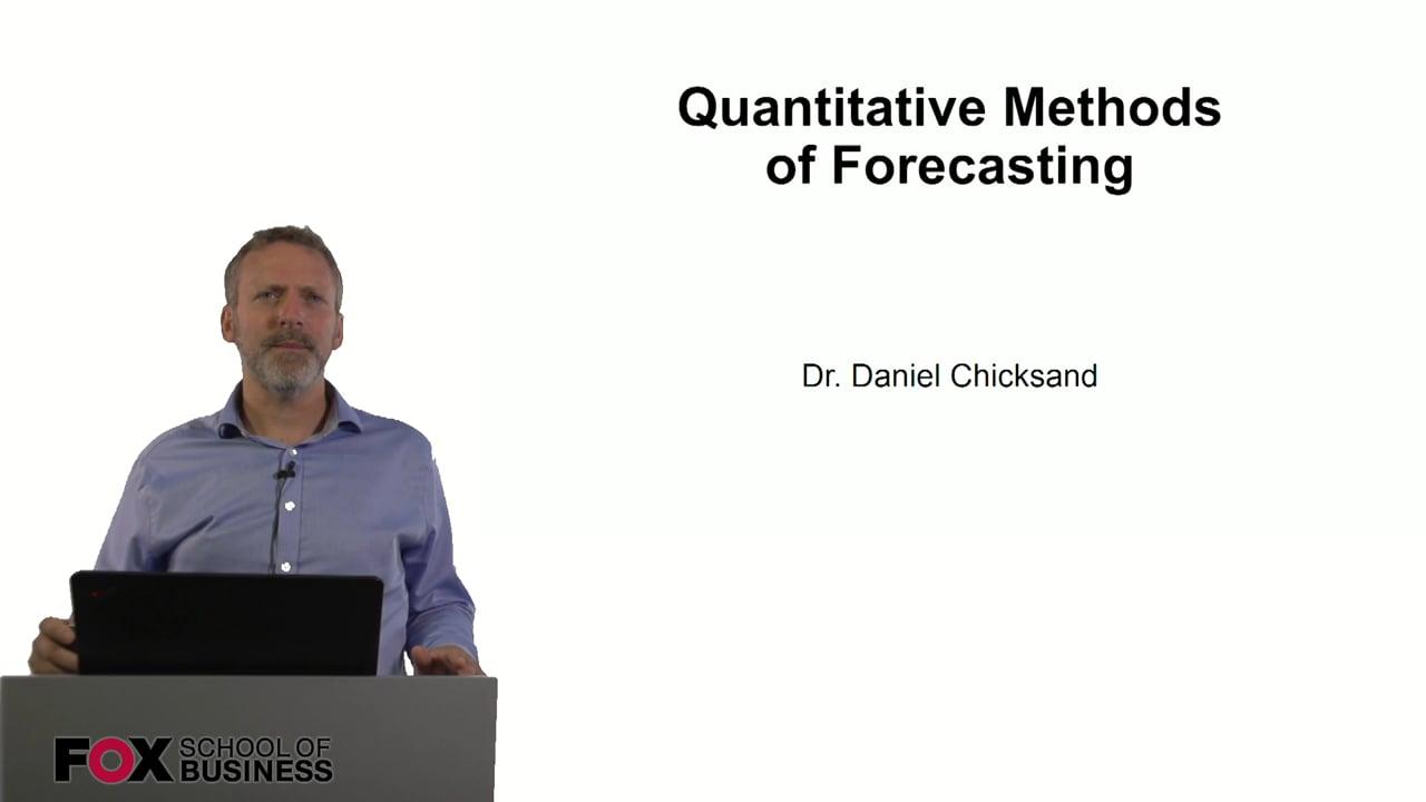 60866Quantitative Methods of Forecasting
