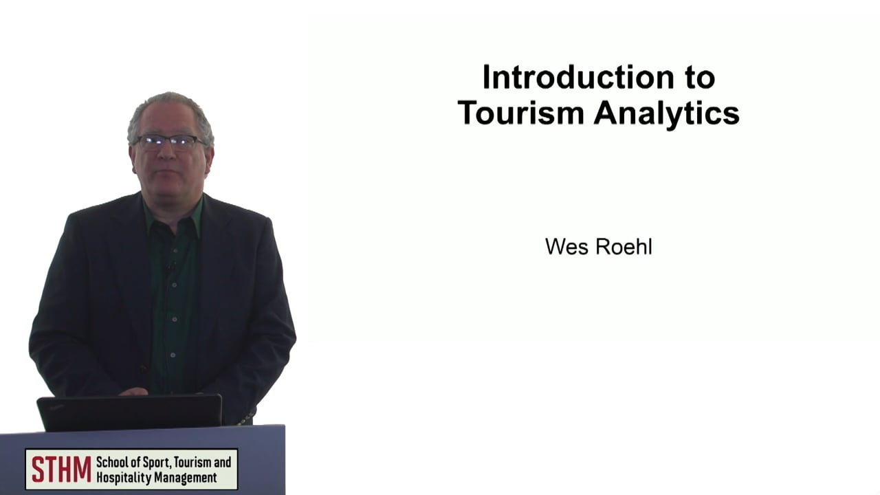 60750Introduction to Tourism Analytics