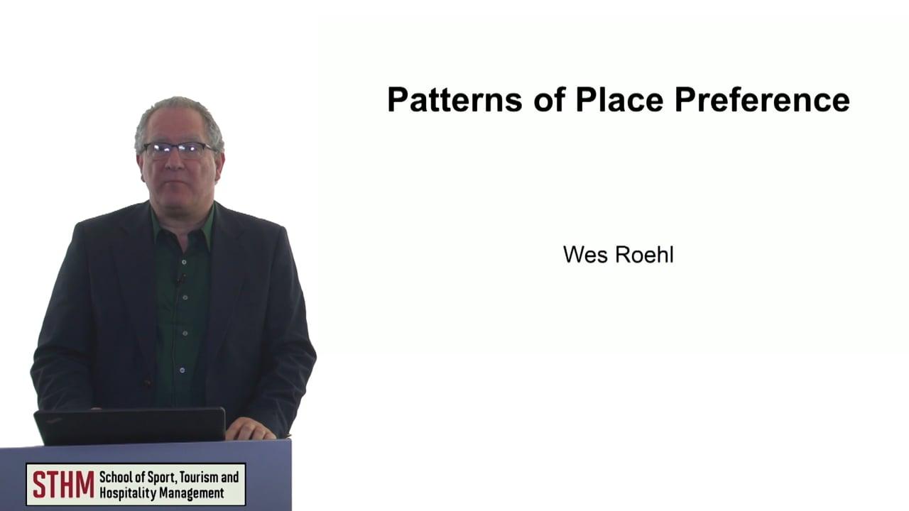 60747Patterns of Place Preference