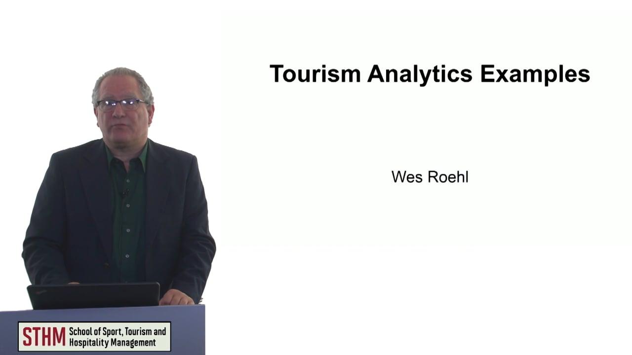 60746Tourism Analytics Example