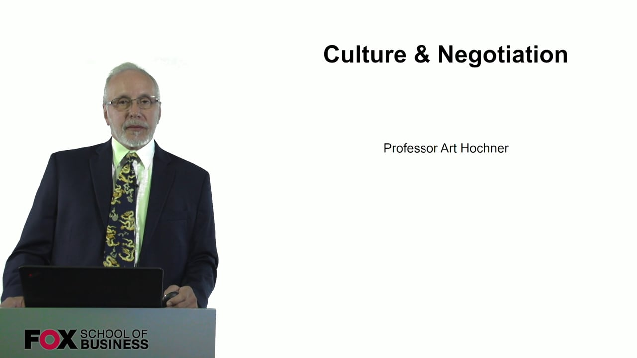 60727Culture and Negotiation