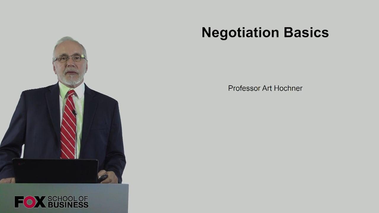 60725Negotiation Basics