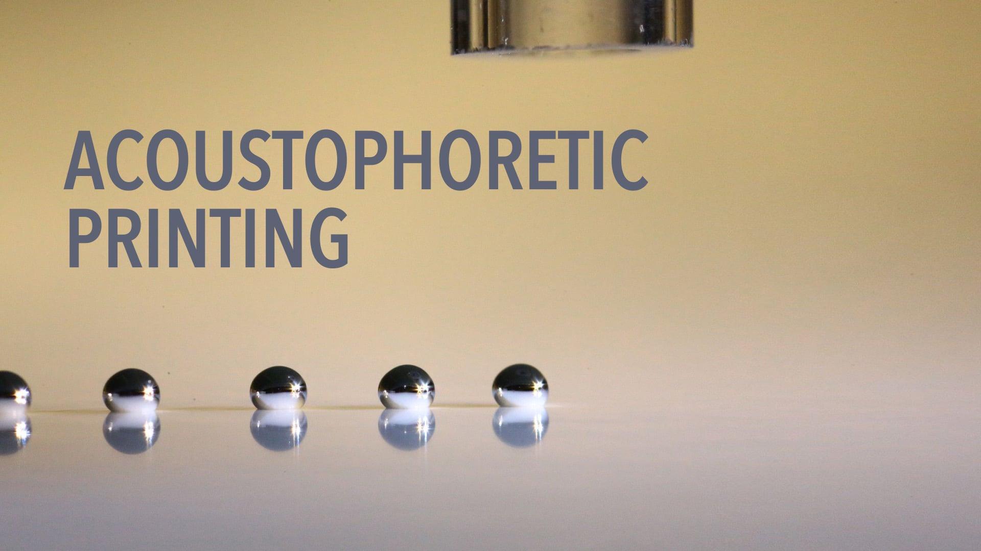Acoustophoretic Printing