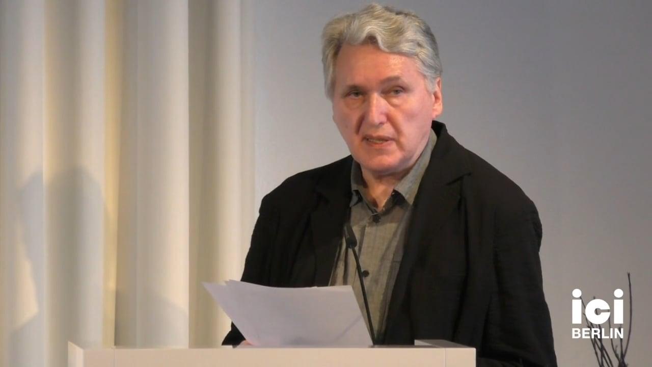 Talk by Boris Groys