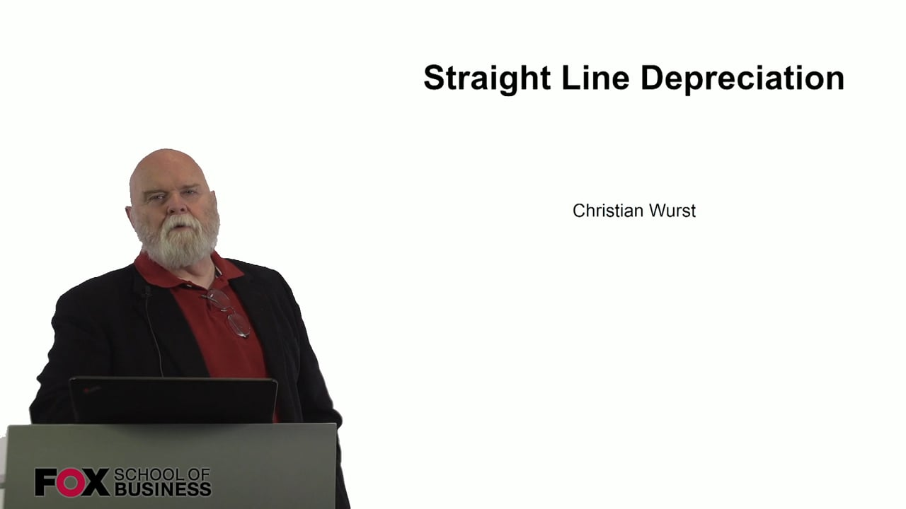 60930Straight Line Depreciation