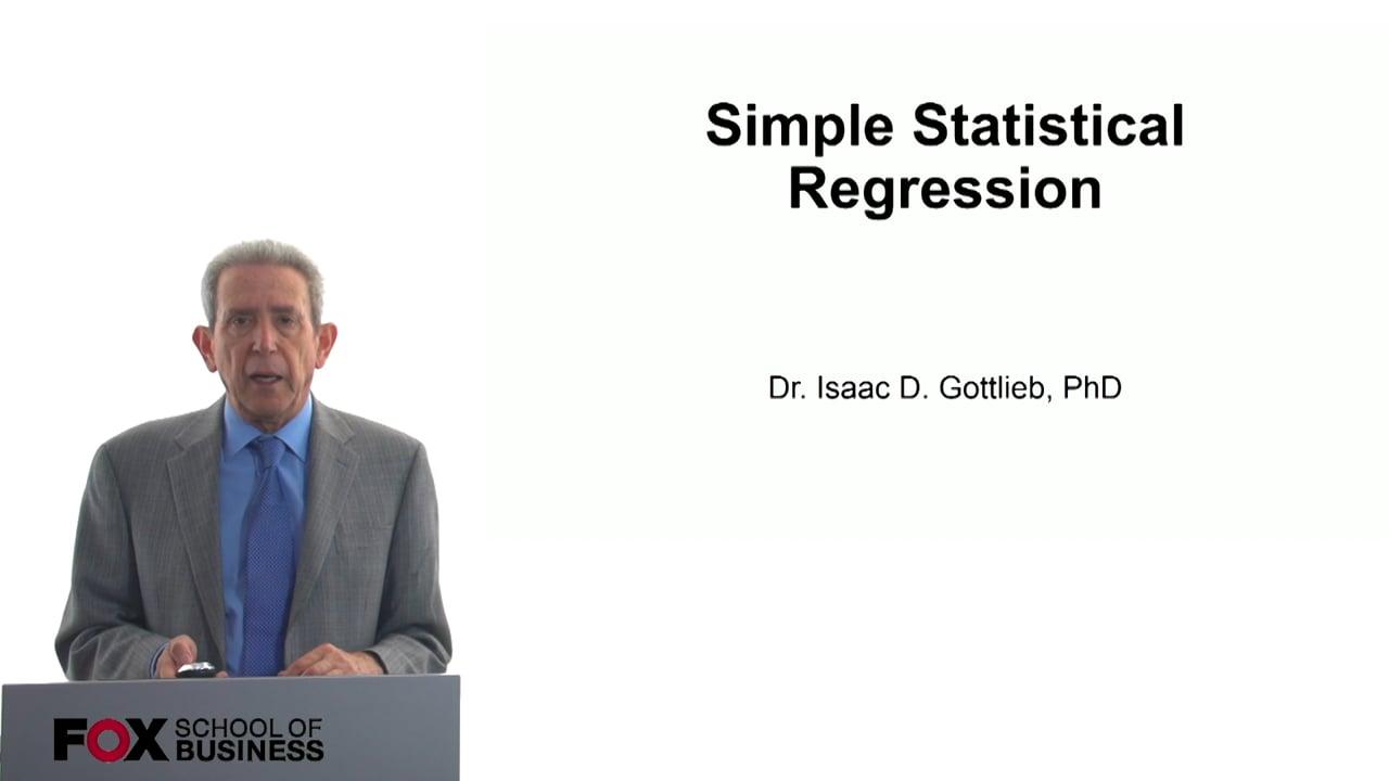 57791Simple Statistical Regression