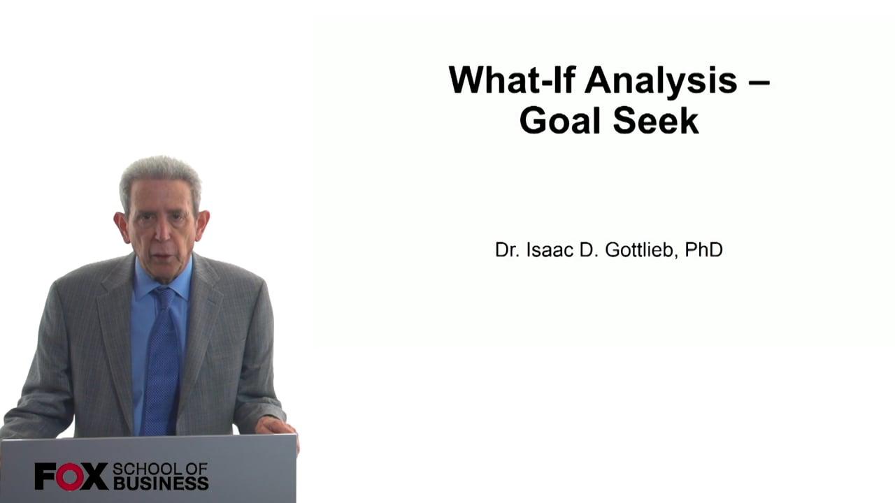 57796What-If Analysis – Goal Seek