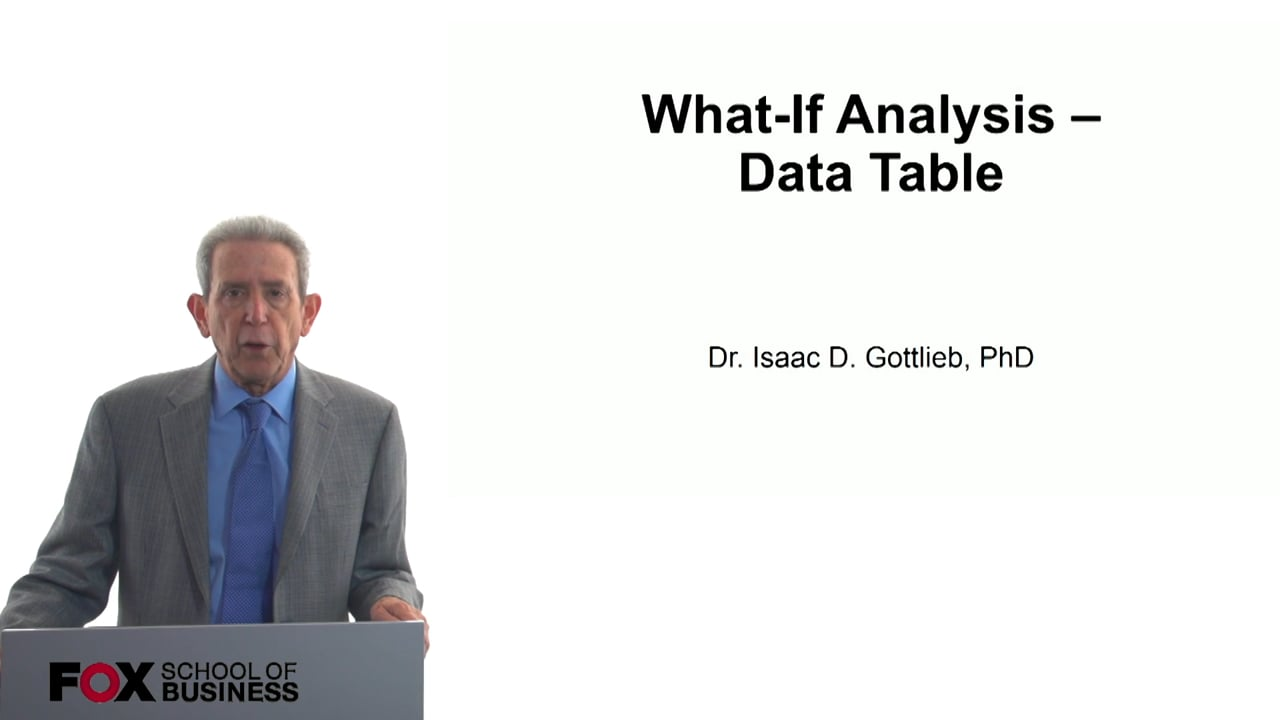 57797What-if Analysis – Data Table
