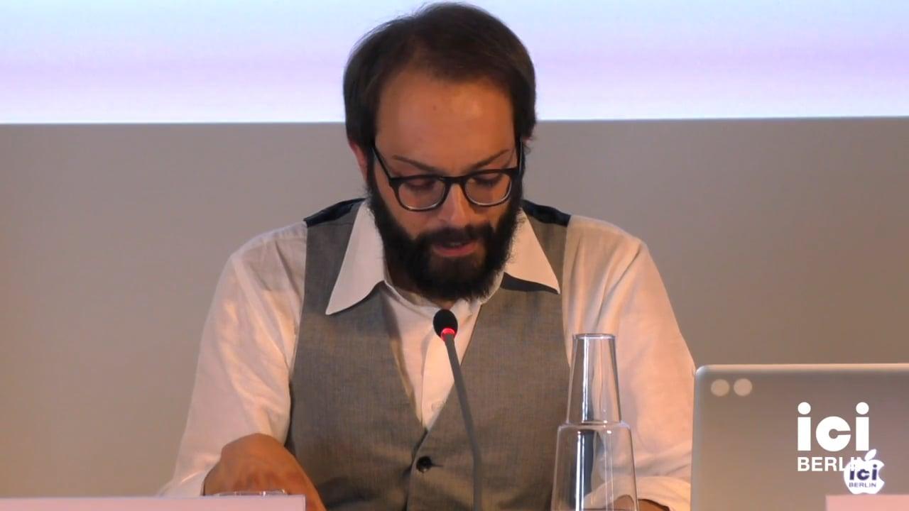 Talk by Francesci Giusti (Panel II)