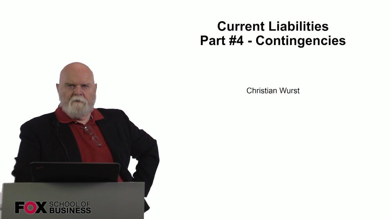 60937Current Liabilities Part 4 – Contingencies