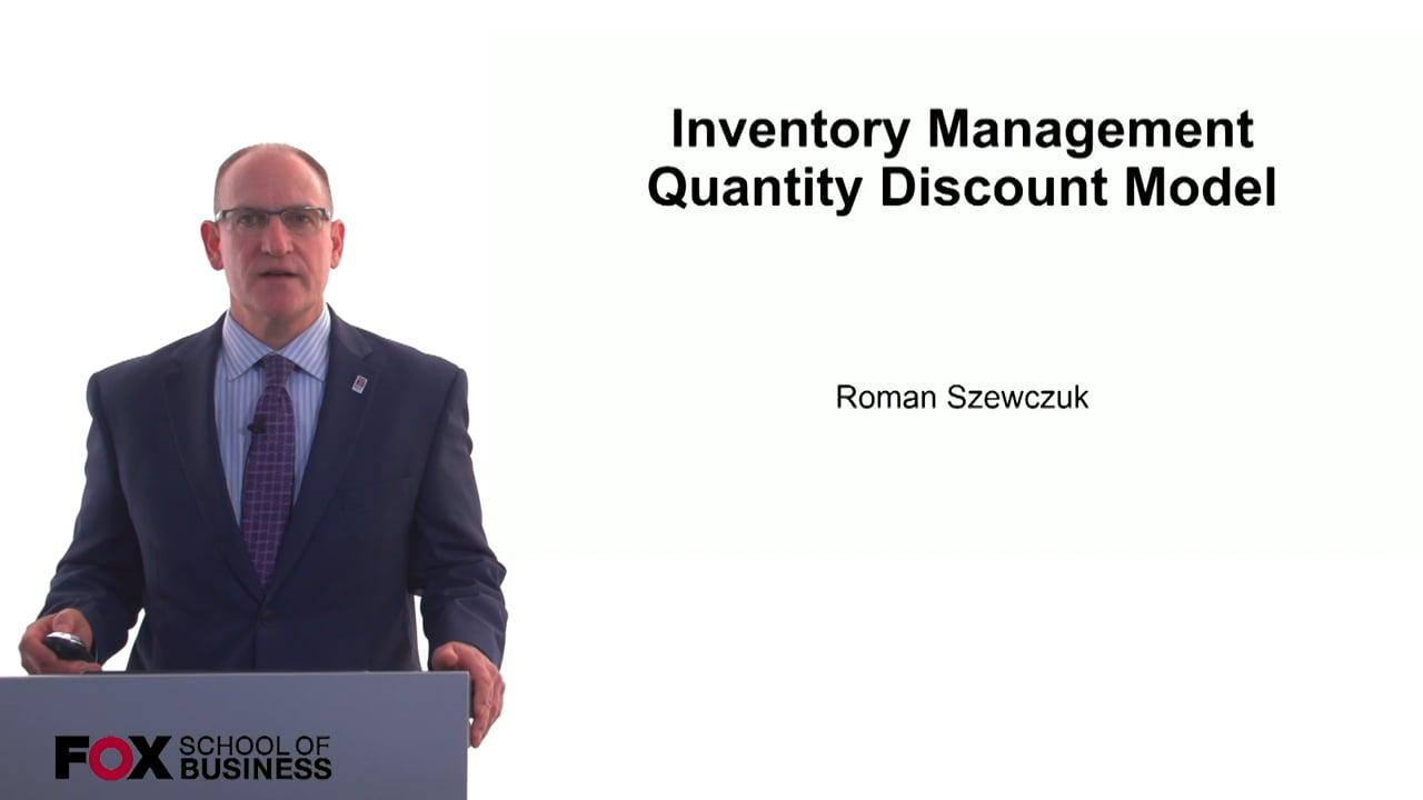 60777Inventory Management Quantity Discount Model