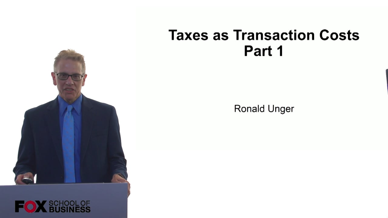 60978Taxes as Transaction Costs Part 1