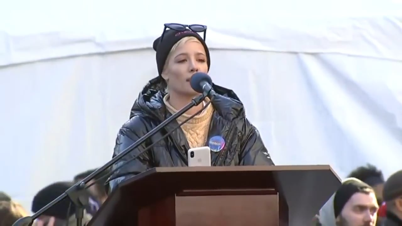 Halsey's Powerful Speech At NYC Women's March
