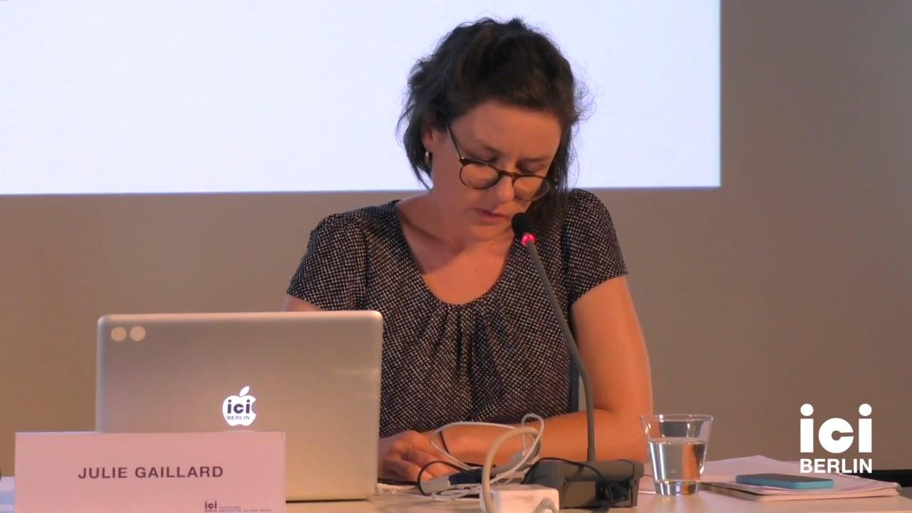 Talk by Julie Gaillard (Panel III)