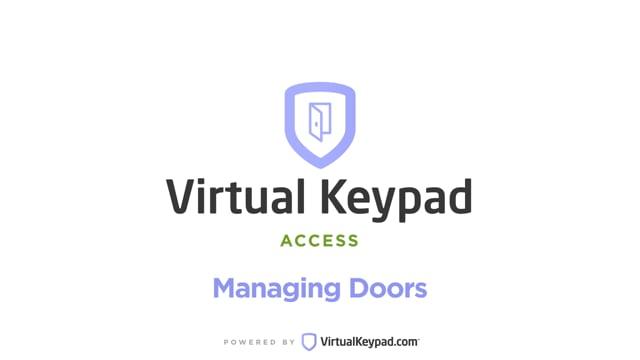 Virtual Keypad Access: Managing Doors