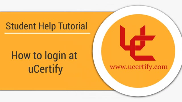 How to login at uCertify