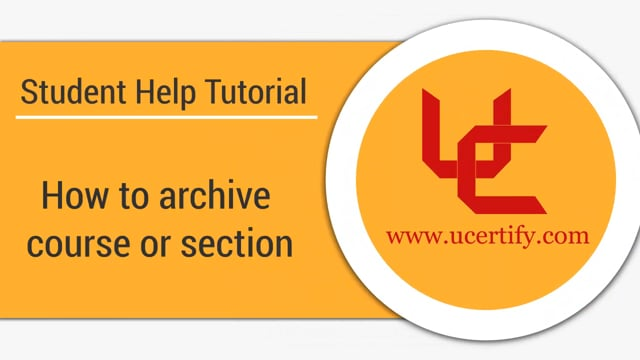 How to archive course or section