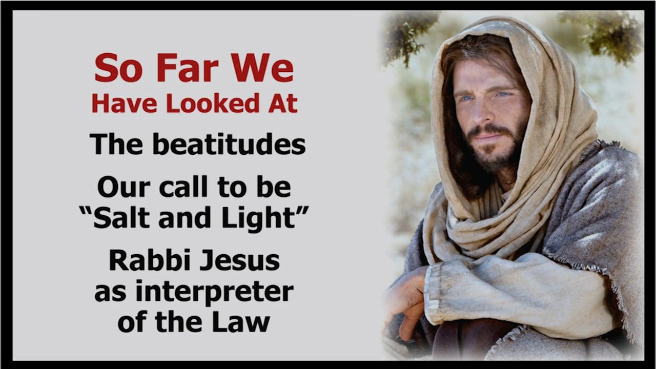 Jesus Reinterprets the Law on Killing