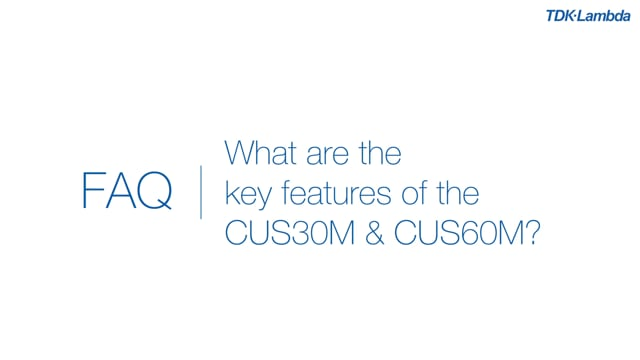 What are the key features of the CUS30M & 60M medical ac-dc power supplies?