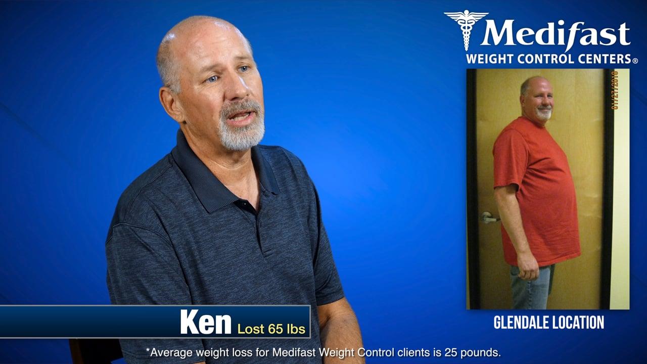 Ken Lost 65lbs at the Glendale AZ Medifast Location
