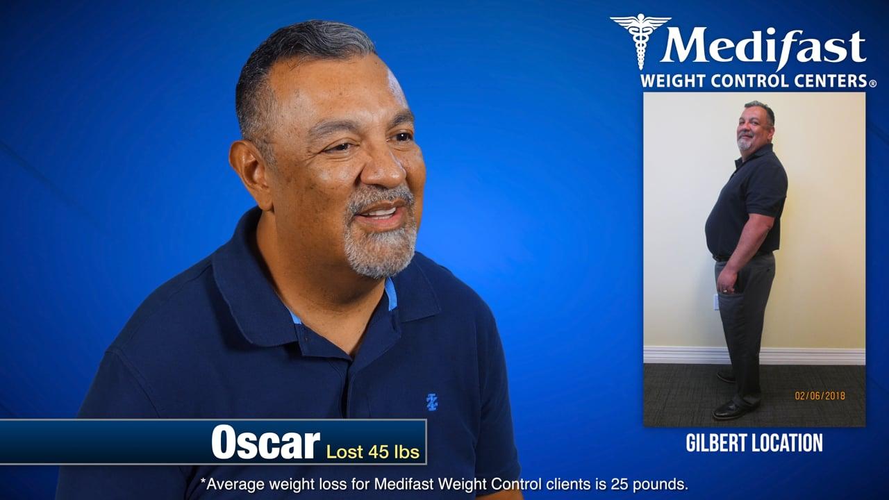 Oscar Lost 45lbs at the Gilbert AZ Medifast location
