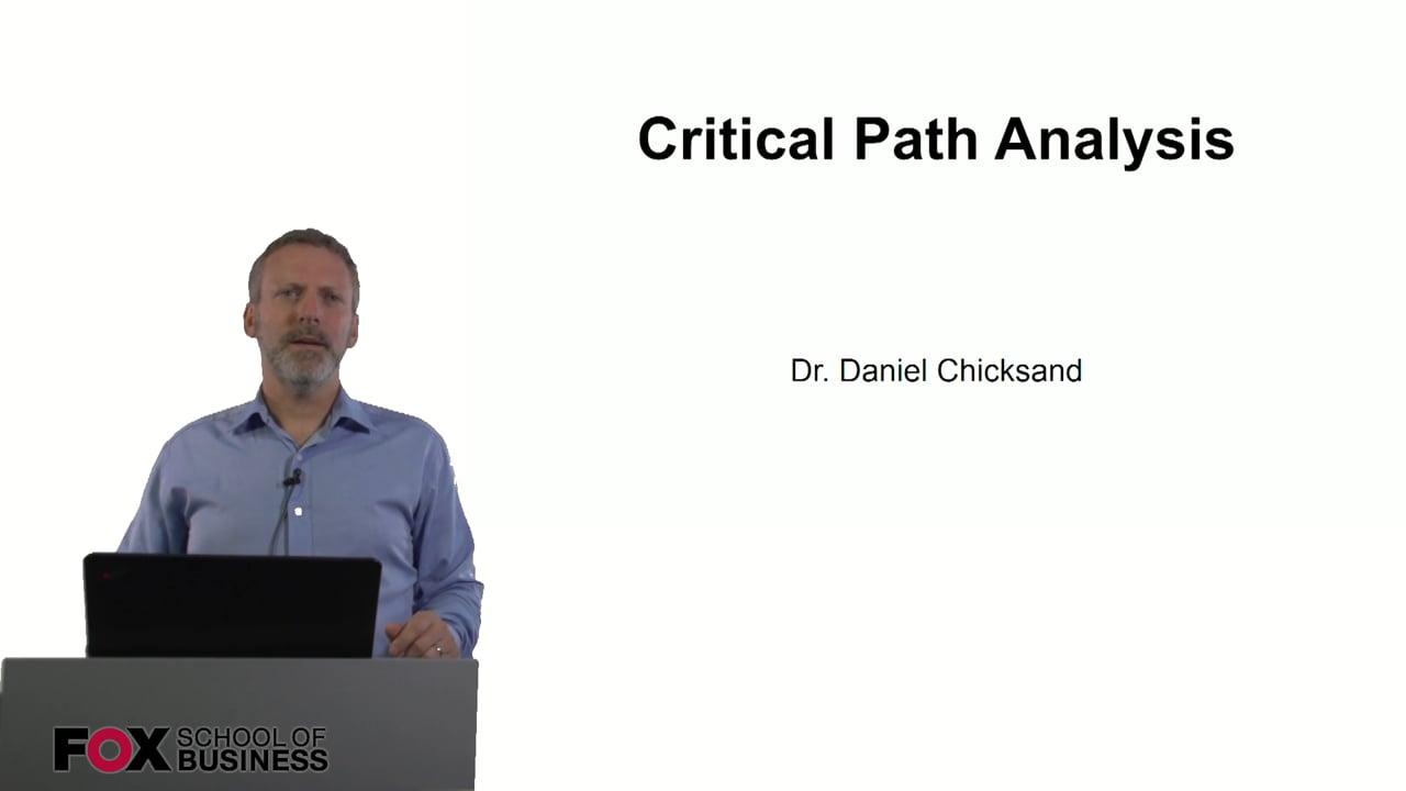 60996Critical Path Analysis