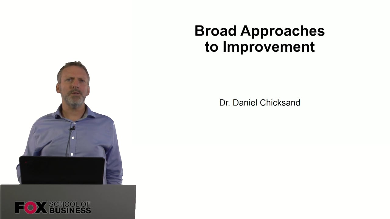 60999Broad Approaches to Improvement