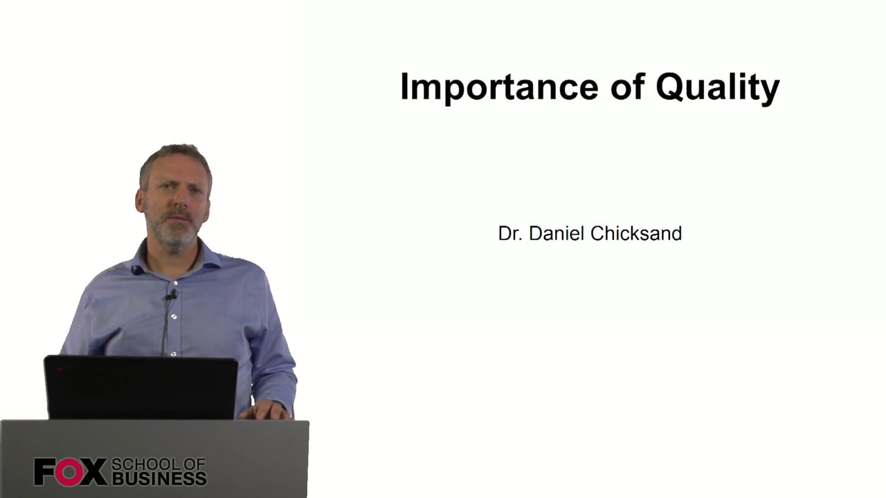 61002Importance of Quality