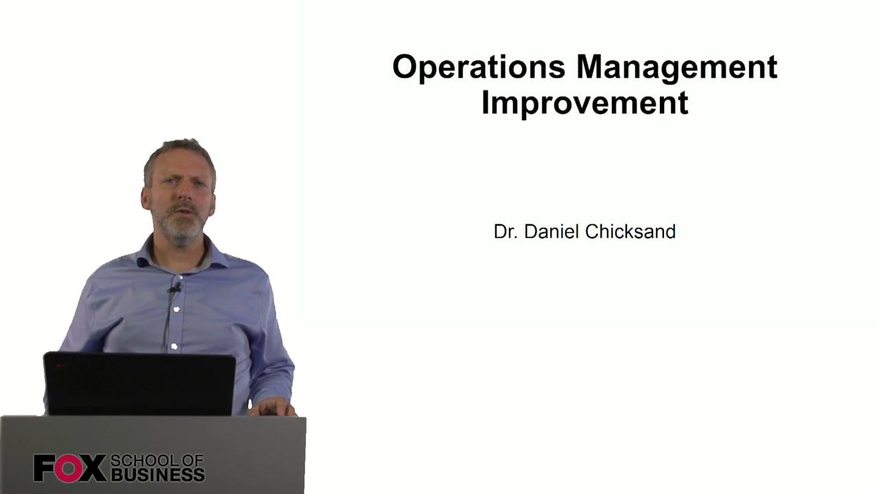 61004Operations Management Improvement