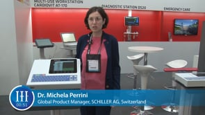 What are the key features of the latest swiss-made ECG from SCHILLER? I-I-I Video with Dr. Michela Perrini