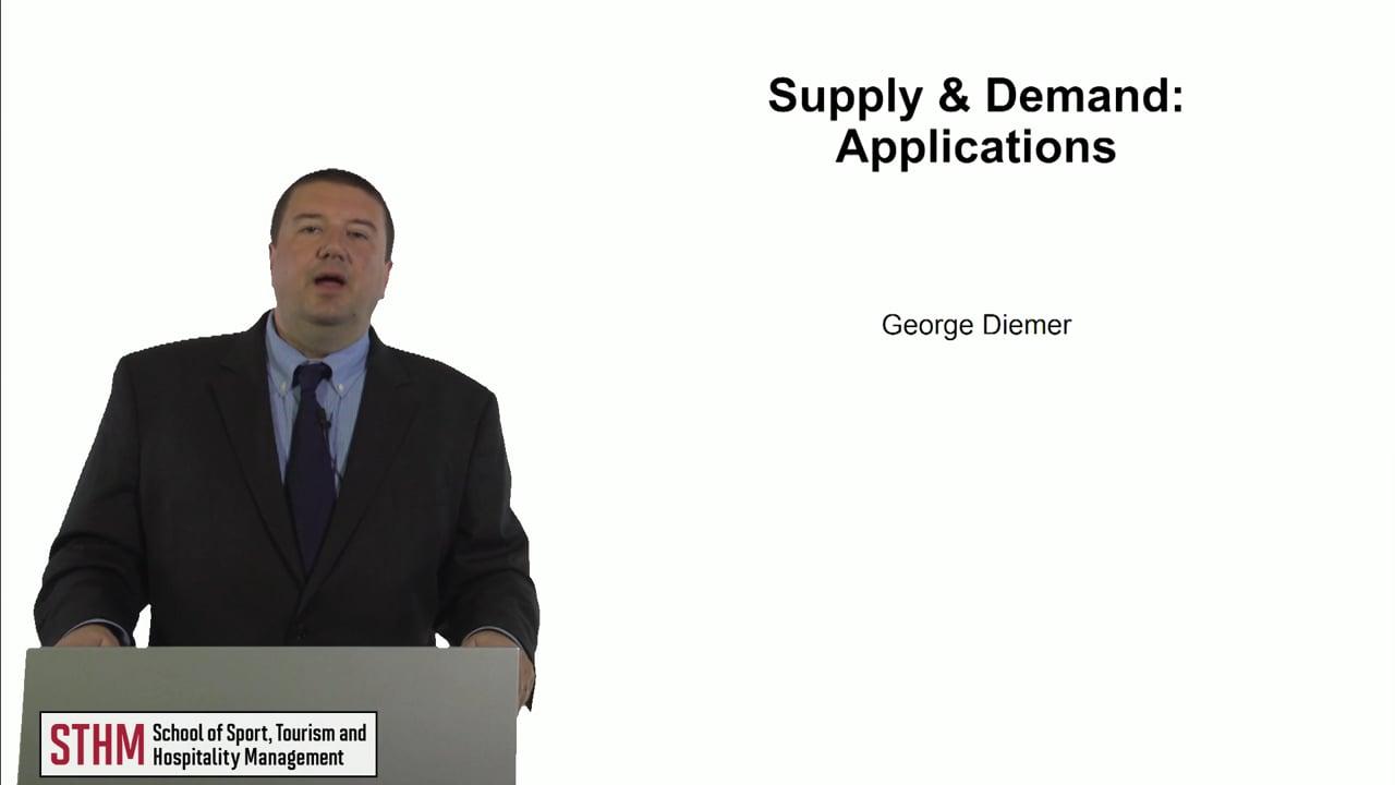 61008Supply & Demand – Applications