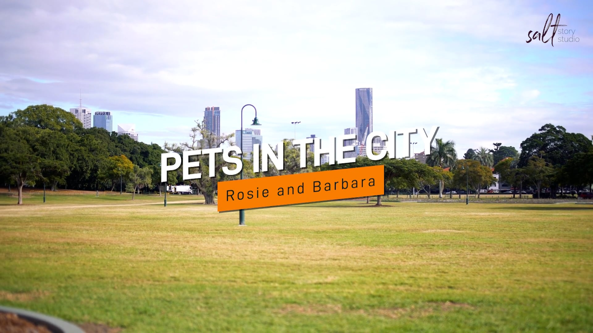 Pets in the city Promo Rosie and Barbara