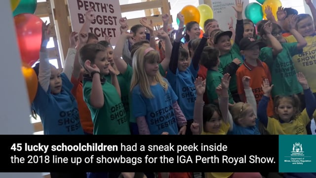 Bags of fun at Perth Royal Show after successful safety checks