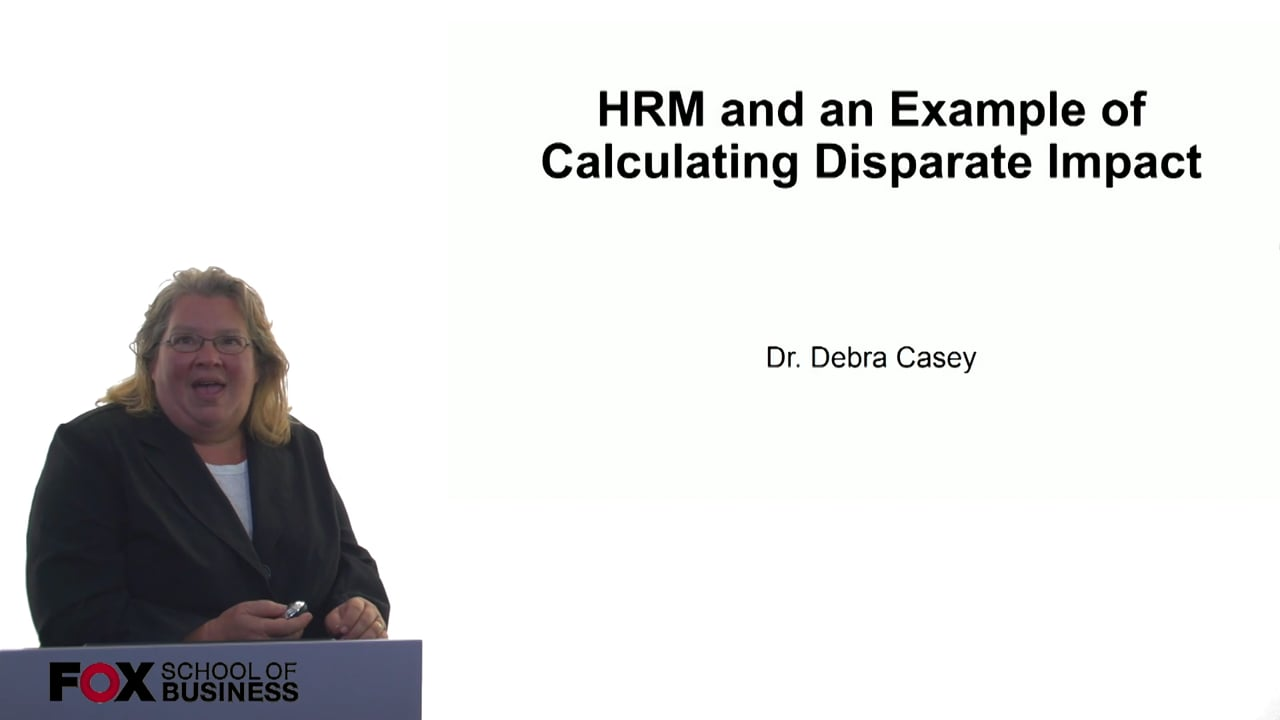 61010HRM and an Example of Calculating Disparate Impact