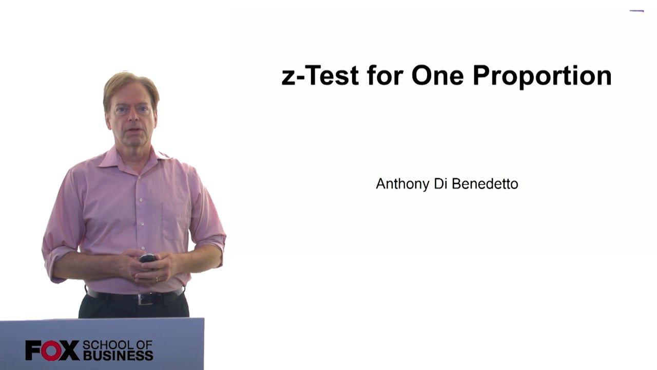 61045z-Test for One Proportion
