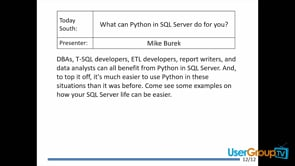 What can Python in SQL Server do for you?