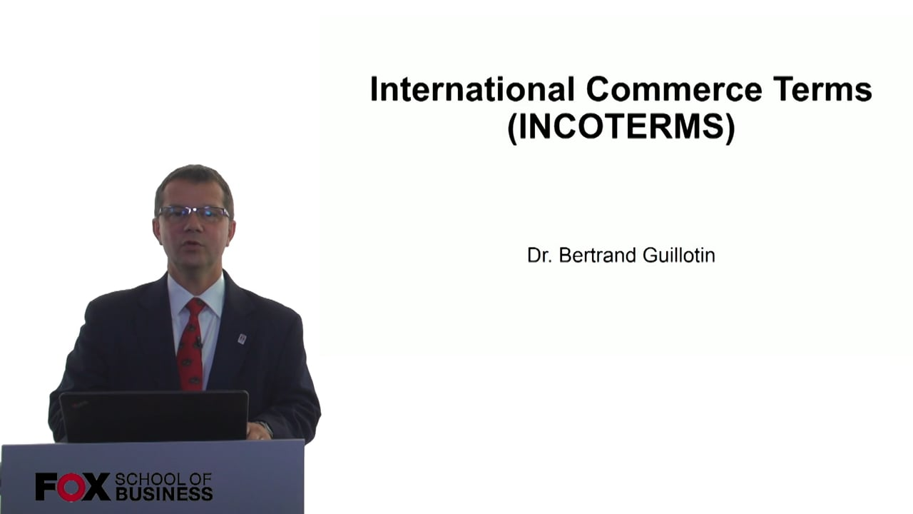 61069International Commerce Terms (INCOTERMS)