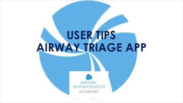 User tips Airway Triage App