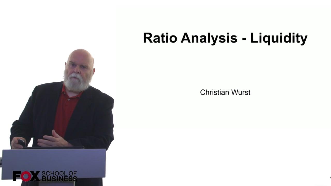 61063Ratio Analysis – Liquidity
