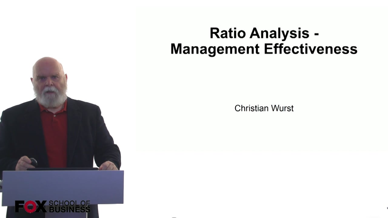 61057Ratio Analysis – Management Effectiveness