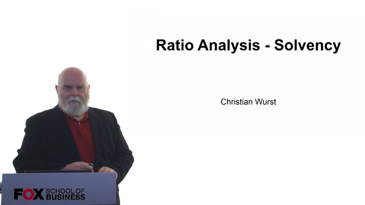 61060Ratio Analysis – Solvency