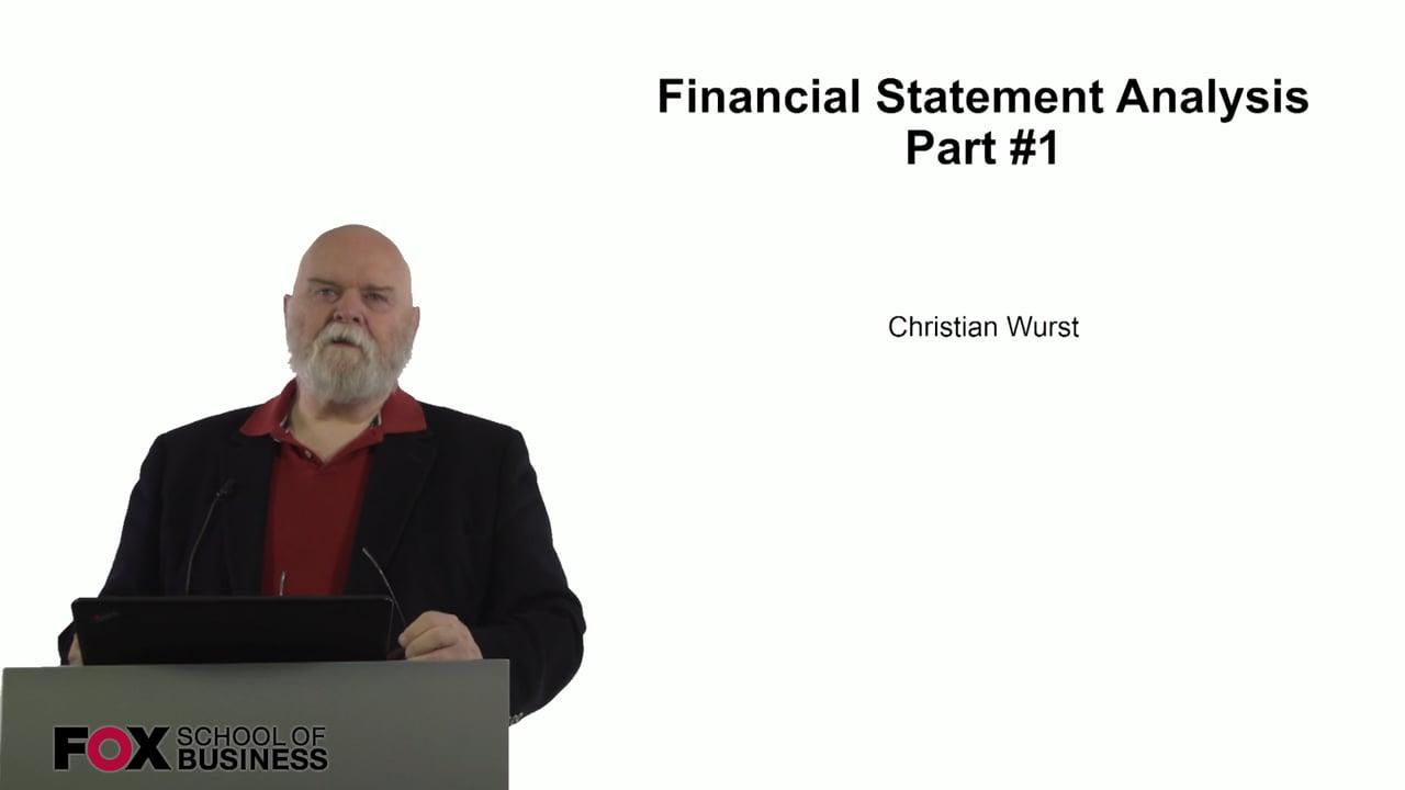 61073Financial Statement Analysis Part 1