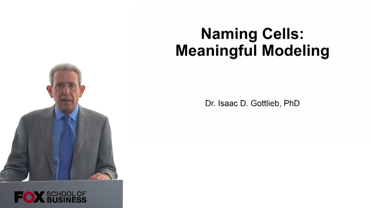 57788Naming Cells: Meaningful Modeling