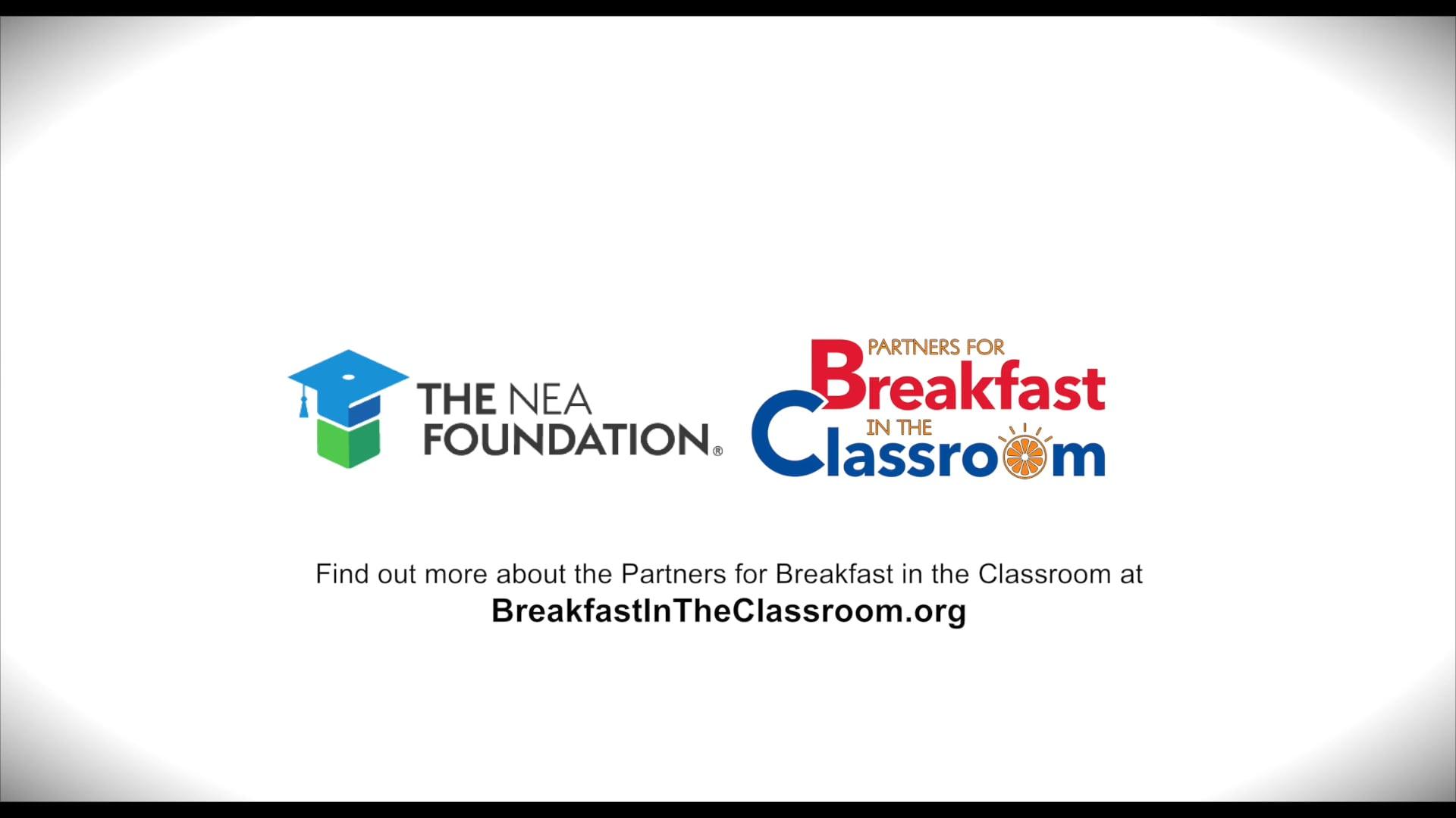 NEA FOUNDATION - BREAKFAST IN THE CLASSROOM