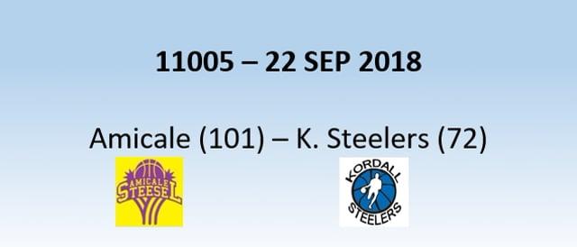 N1H 11005 Amicale (101) - Kordall Steelers (72) 22/09/2018