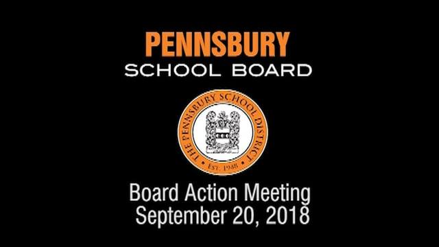 Pennsbury School Board Meeting For September 20, 2018