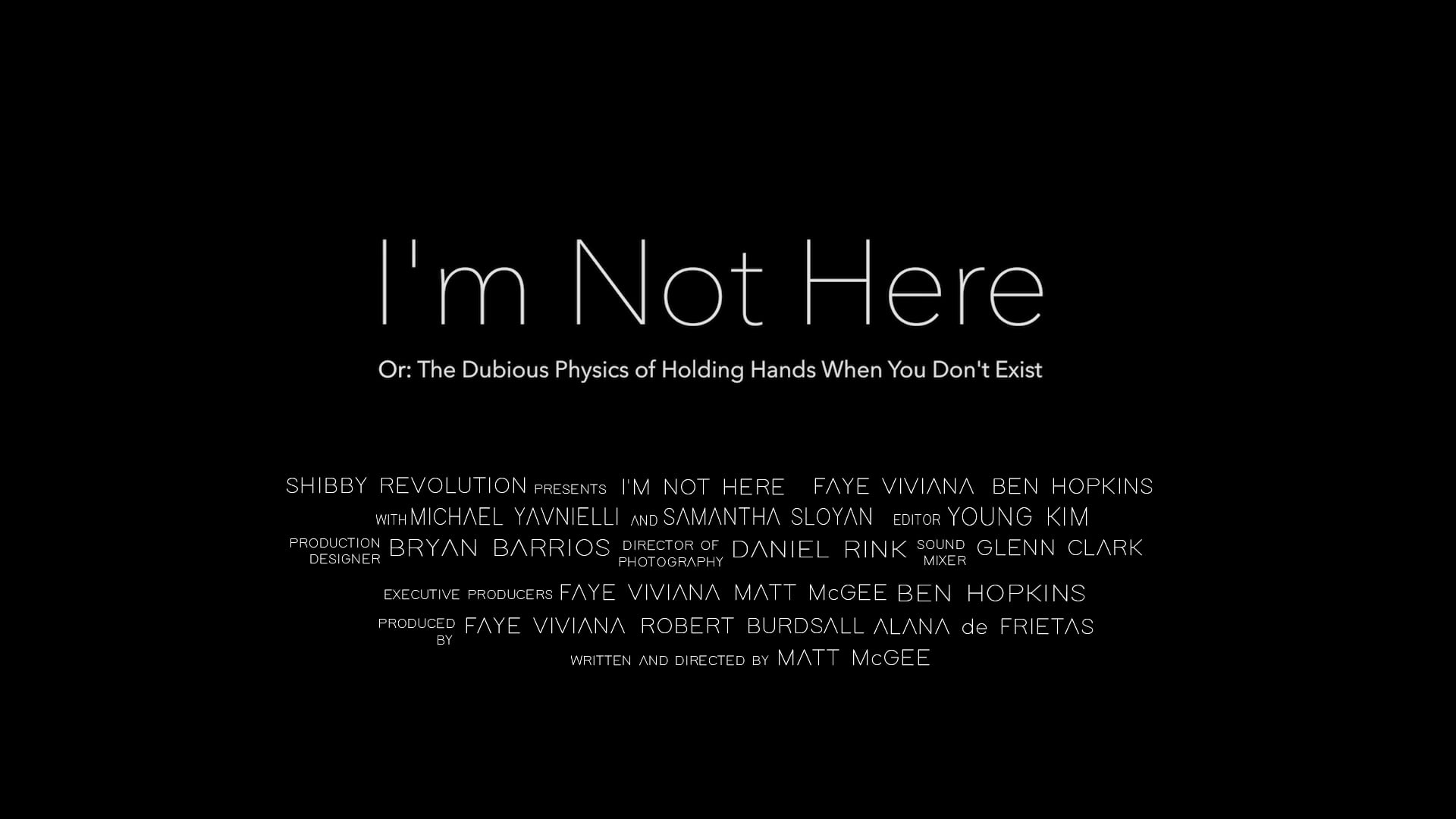 """""""I'm Not Here"""" (Official Trailer)"""