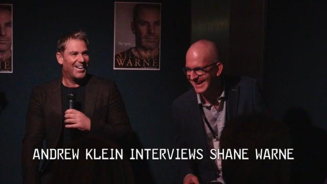 Andrew Klein Interviews Shane Warne – 2018